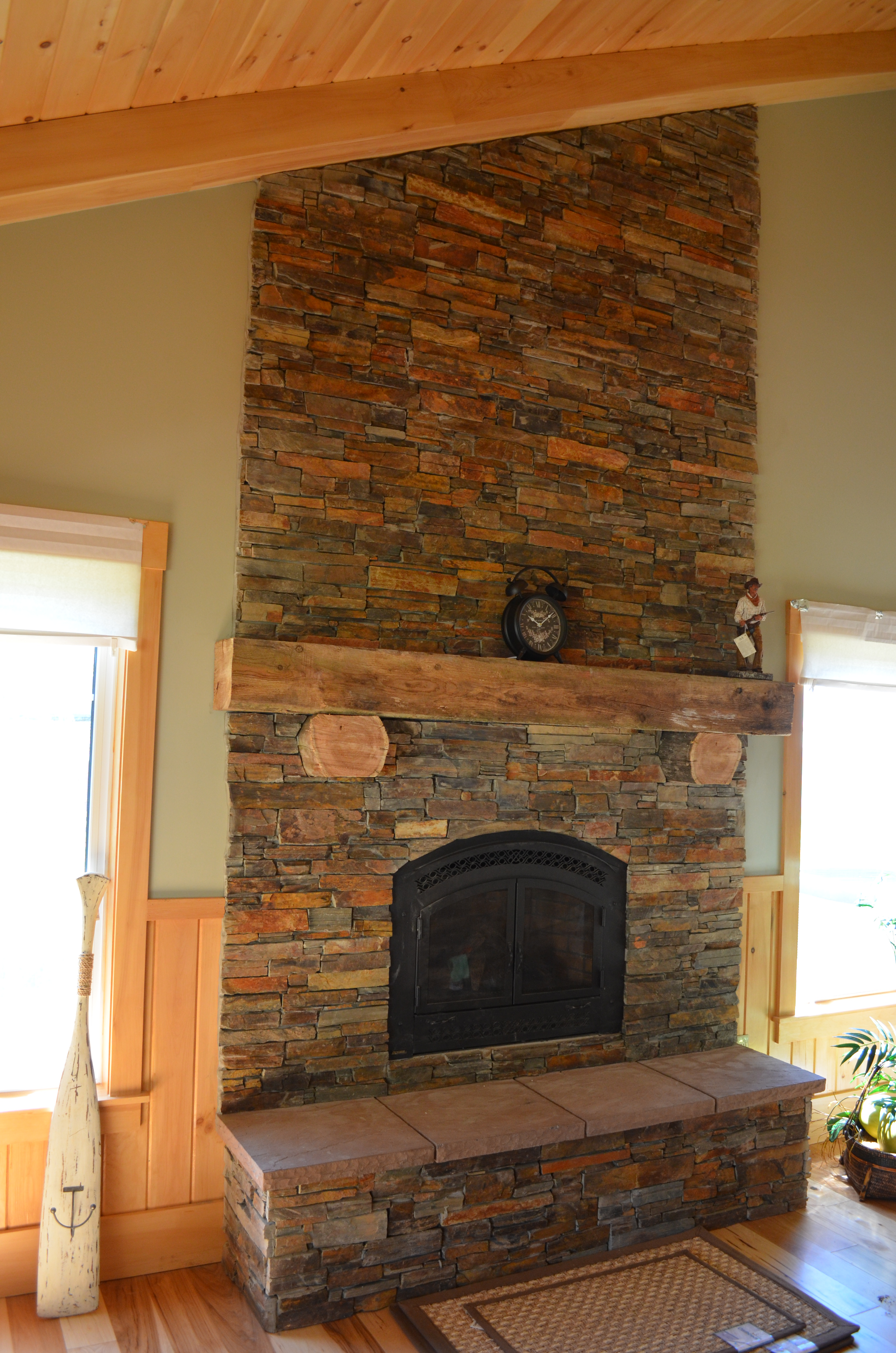 Victory stone fireplace mantels hearths for Fireplace material options