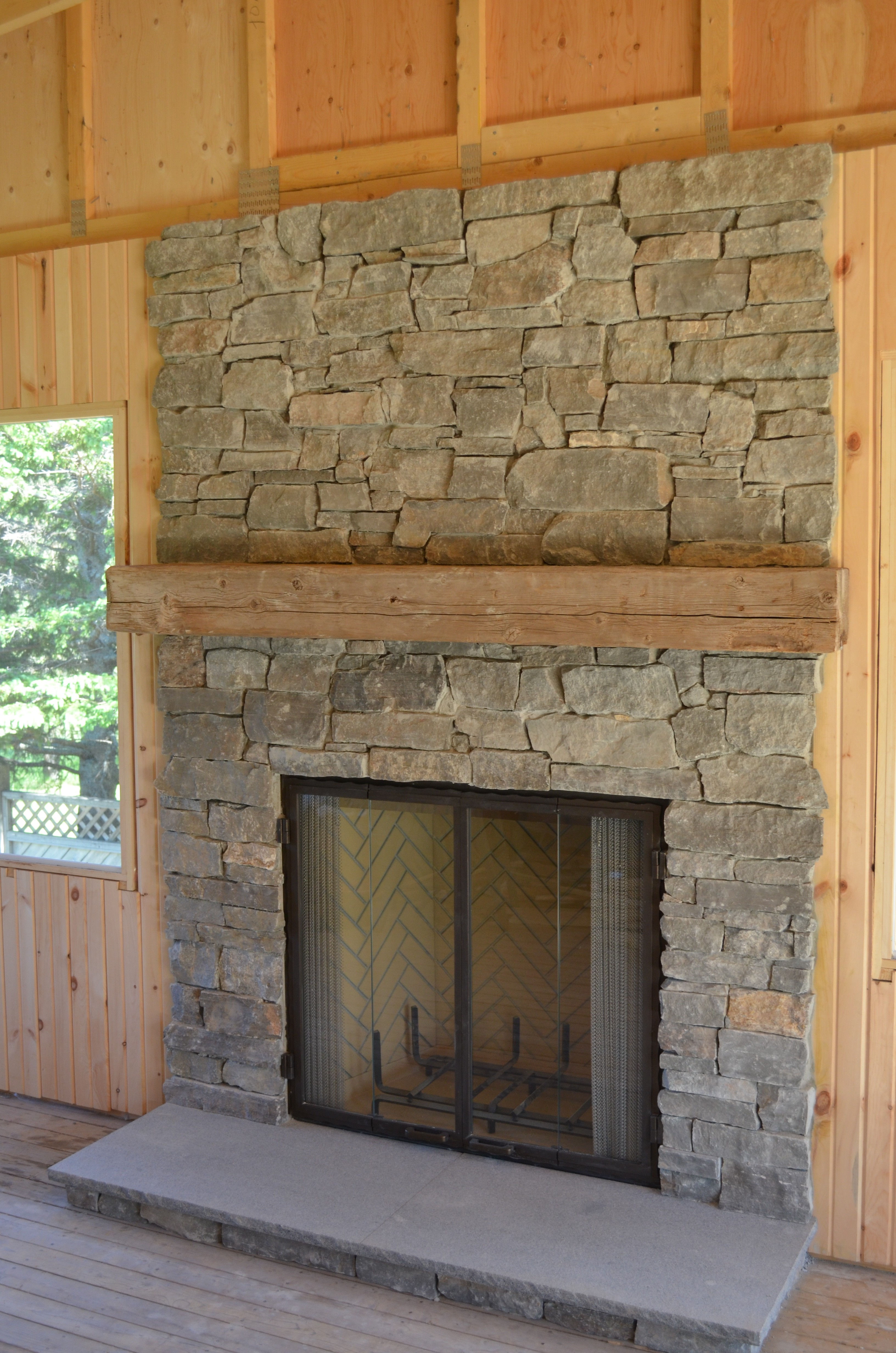 within kits mantels fireplace fresh replacing surround stone right stacked cast